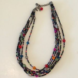 🔥 3 x $20 Chico's Beaded Necklace Multi Strand
